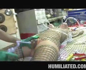 Teen Caught in a Fishnet!