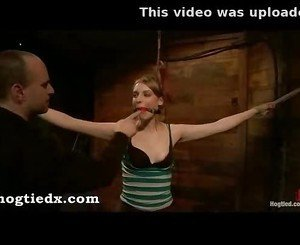 Hogtied ela darling fingered