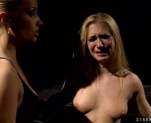 Horrid mistress punishing hot slavegirl