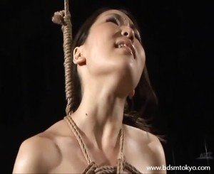 Wooden horse bondage and tit torture of japanese