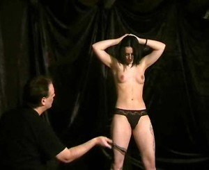 Teen slave girl whipping during domination
