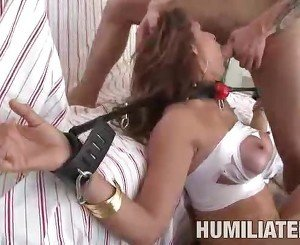 Hard porn with totally disgraced MILF slut