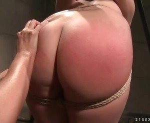 Mandy Bright punishing young brunette