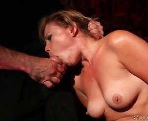 Hot sex slave gets fucked pretty hard