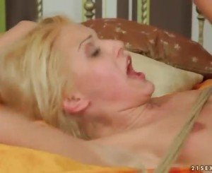 Hot blonde gets tied up and fucked hard