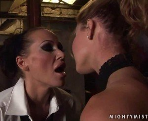 Mandy Bright dominating Cindy Hope