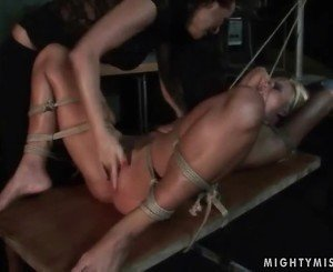 Mistress Mandy Bright dominating hot blonde