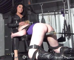 Bizarre lesbian toys domination of suffering Amber