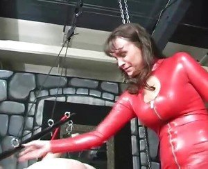 Extreme mature dominatrix hardcore balls kicking