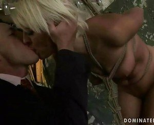 Blonde gets punished and fucked very hard