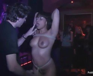 Rough group punishment for a naughty slut whore