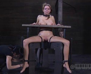 Slaves are clamped up for severe torture