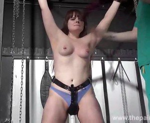 Teen bdsm of chubby amateur slave Louise