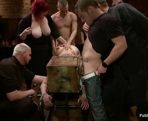 Slaves are brought in to serve horny needs