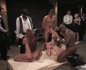 Rough group punishment for a wicked slut slut
