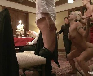 Charming sex slaves are suffering from pleasuring