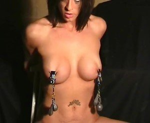 Extreme breast bdsm and nipple torments of Daniela