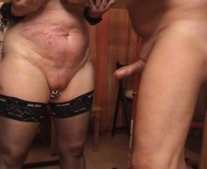 Nailing the Slave from Behinde, Free BDSM Porn cb: