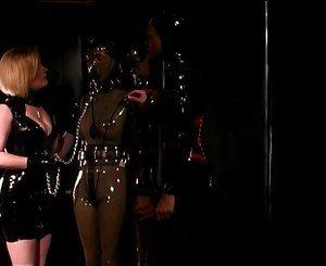 Sexy Mistress in Leather Spanks the Slut, Porn a8: