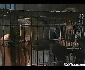 Caged and Sprayed Asian Teen, Free BDSM Porn 98: