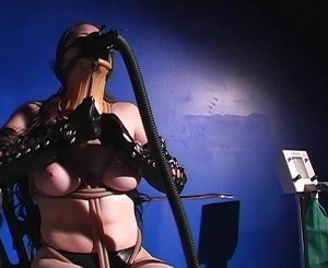 Sexy Chick in Leather Gases Herself, Free Porn a5: