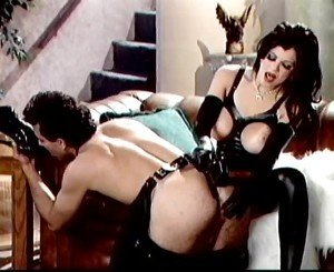 Latex Brunette Fucks Him with Her Feet, Porn a0: