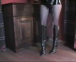 Leather Domina in Hotpants, Free BDSM Porn c4: