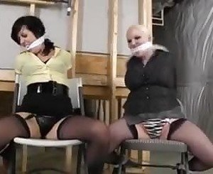 Two Caught Chairtied and Escape, Free Porn 60: