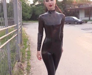 Marilyn Yusuf in Hot Latex, Free Arab HD Porn 96:
