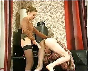 Russian Blonde with Strapon 3, Free BDSM Porn 89: