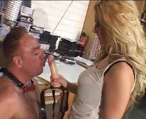 Blond Spanks and Fucks Guy's Ass, Free Porn d0: