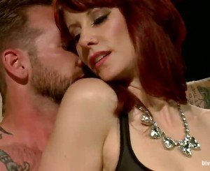 Tattooed Person Has Jerked Off While Maitresse Madeline Strapon Drills Him