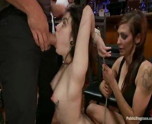 Dirty And Precious Tegan Tate Receives A Huge Zonker In All Of Her Small Tunnels In A Crowded Bar