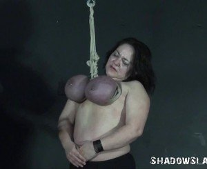 Andreas Knocker Hanging And X Rated Mature Breast Torture Of Hung