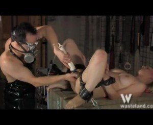 Dirty Blonde Inside The Domination Dungeon Dildoed Huge