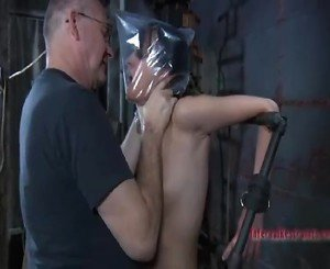 Hard Bondage Masochism Action Around Little Horny Slut