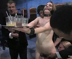 Humiliated Sarah Is Forced To Serve Drinks Unclothed