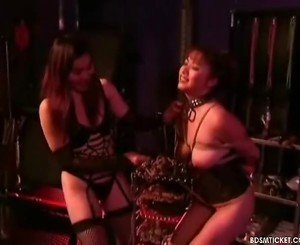 Oriental Mistress Ropes Her Slave's Pointer Sisters