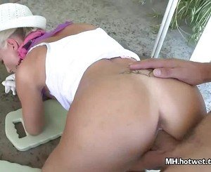 MILF Gardened Then Tied And Fucked