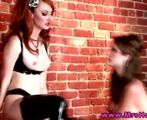 Emily Addison and Kendra James fetish play