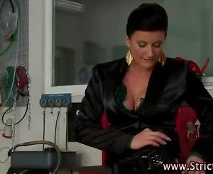 Watch domina fuck horny victim