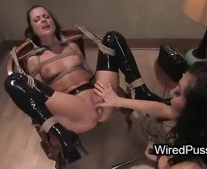 Maid is punished and strap on fucked