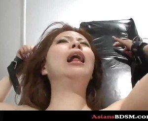 Hottie bounded with drenched pussy too p4