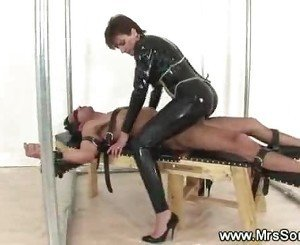 Mistress rides her slaves hard cock