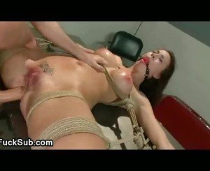 Big sexy tits hottie rough assfucked