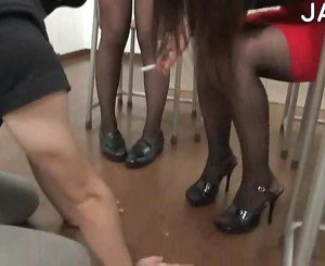 High heels and slaves
