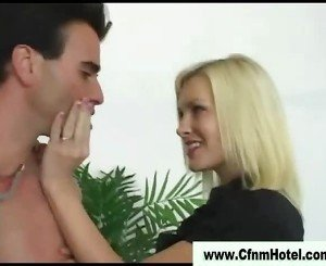 Cfnm femdoms cock jerk cumshot