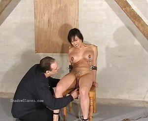Asian needle bdsm of busty japanese Tigerr Juggs in extreme piercing torture and gagged oriental punishments