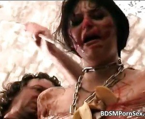 Extreme BDSM fuck action with messy slut