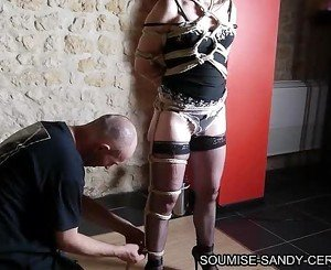 french shibari bondage soumise sandy no sex